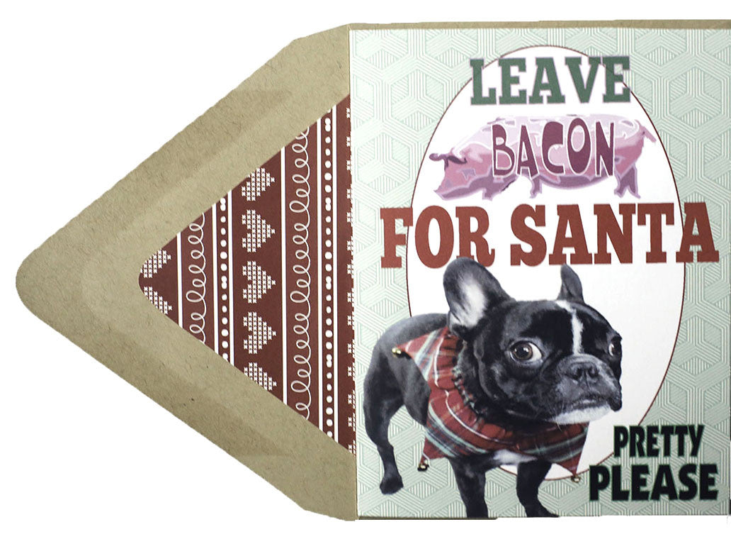 Leave Bacon : Christmas Card - Dog Series - Stilldez