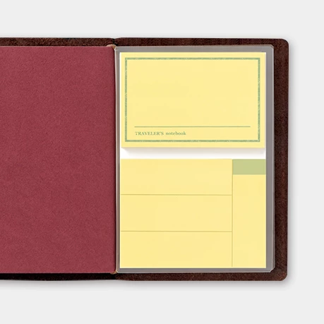 Traveler´s passport size Notebook – #12 Sticky notes