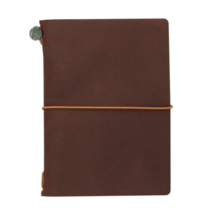 Traveler´s passport size Notebook – dökkbrún