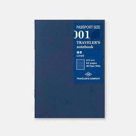 Traveler´s passport size Notebook – #1 Línustrikuð bók