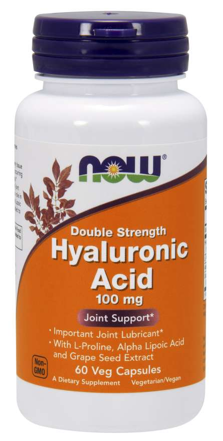 Hyaluronic Acid 100Mg 2X Plus 60 Vcaps