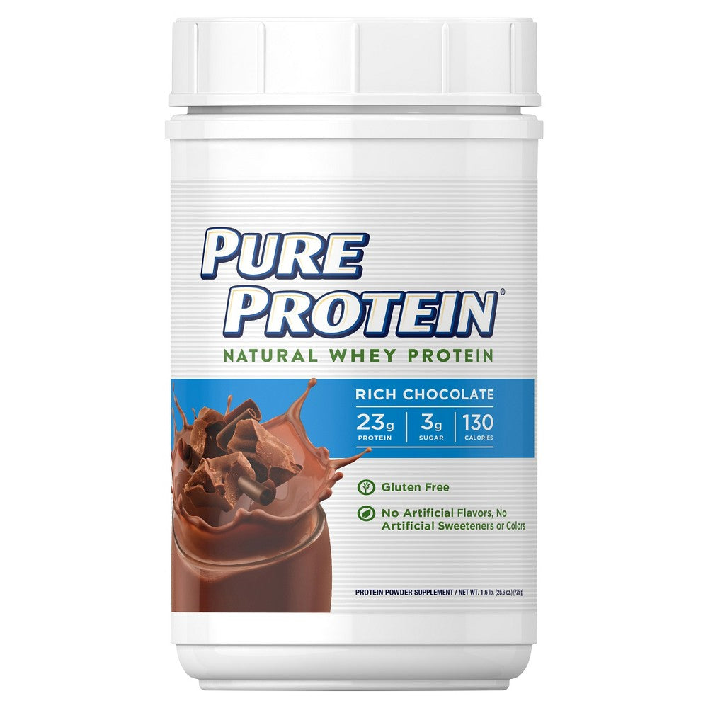 Pure Protein Natural Whey Powder 1.6 Lbs