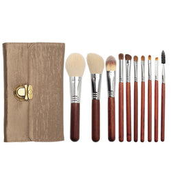 Goat Hair Makeup Brush Set 10 PCS