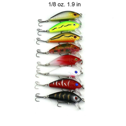 43 pc  Fishing Lure Set Minnow Lipped Hard Crankbaits
