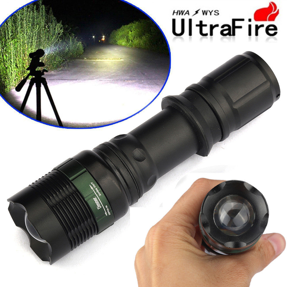 5000 Lumens Waterproof Flashlight +18650 Battery + Charger