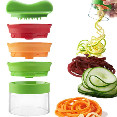 3 In 1 Vegetable Handheld Slicer 3 Blade Spiralizer