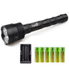 Image of Super Bright Tactical CREE XML 3x T6 40000 Lumen LED Tac Light Flashlight Torch + 6x 18650 Battery+Charger