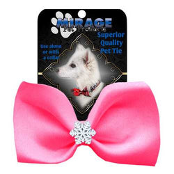 Snowflake Widget Pet Bowtie Hot Pink
