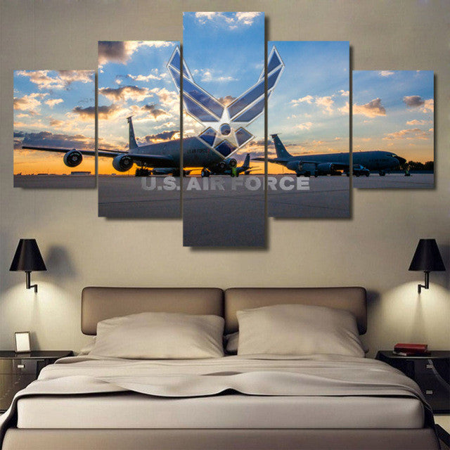 U.S. Air Force 5 piece Canvas Wall Art Print - Limited Edition
