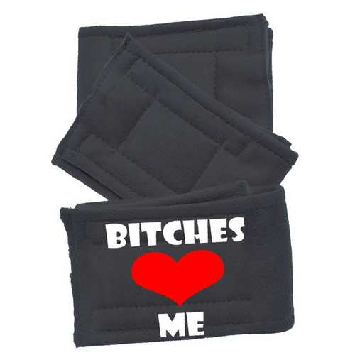 Peter Pads Ultra Plush Grey Size XS Bitches Love Me 3 Pack