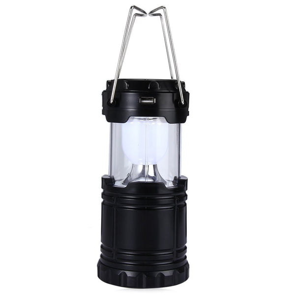 LED Solar Panel Collapsible Rechargeable Camping Emergency Lantern Light