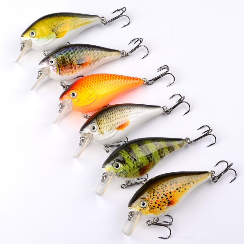 "6 pc Bass Fishing Crankbait Lure Set 3""  1/2 oz Crankbait"