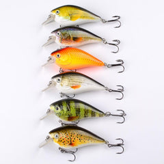 6 pc Bass Fishing Crankbait Lure Set 3