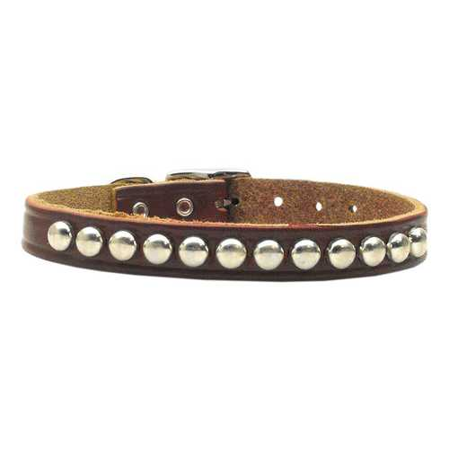 Stud Leather Burgundy 16