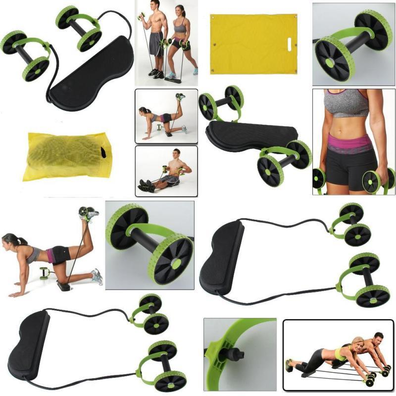 AB Roller Resistance Band Home Workout Combo