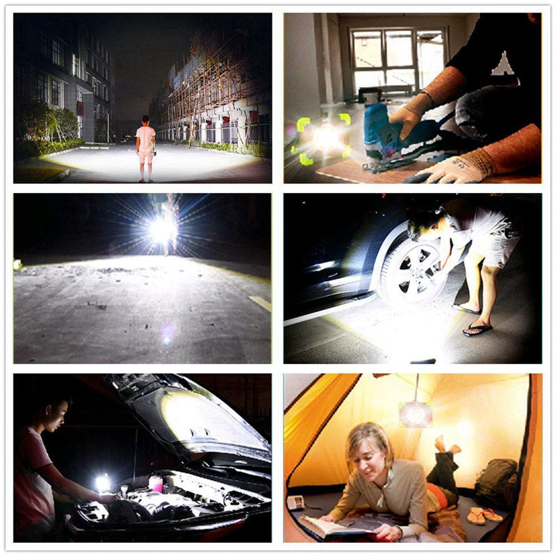 Portable Camping Lights 20W 1500LM LED COB Work Lamp USB Rechargeable Waterproof  Floodlight