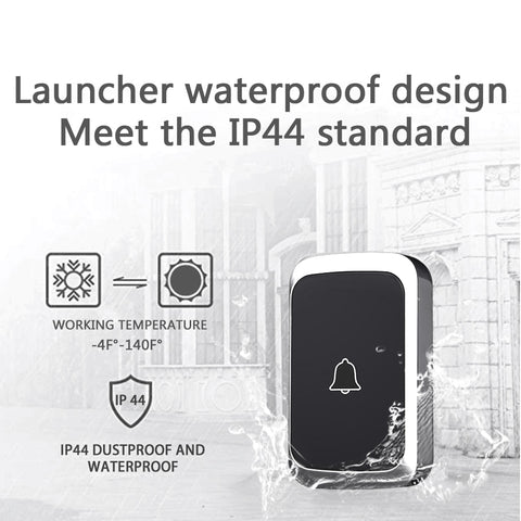 Wireless Waterproof Doorbell 300M