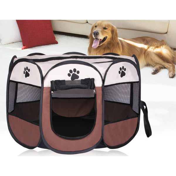 Portable Folding Dog Puppy Pet Tent Playpen Dog House Cage