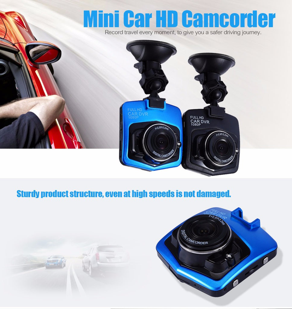 Car Dash Cam 1080P DVR Camera HD Dashcam Recorder 120 Degree Wide Angle