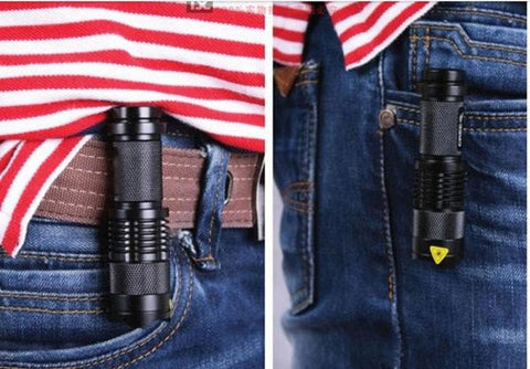 Mini Tactical Flashlight CREE 1200 lumens  3 mode  Zoomable Tac Light Torch- Get 6 for only $24.95