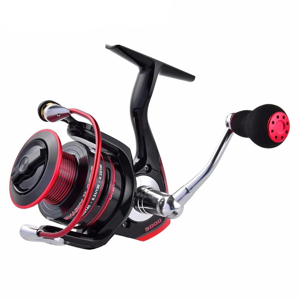 Water Resistant Carbon Drag Spinning Reel with Large Spool-  42 lb Max Drag Freshwater Spinning Fishing Reel