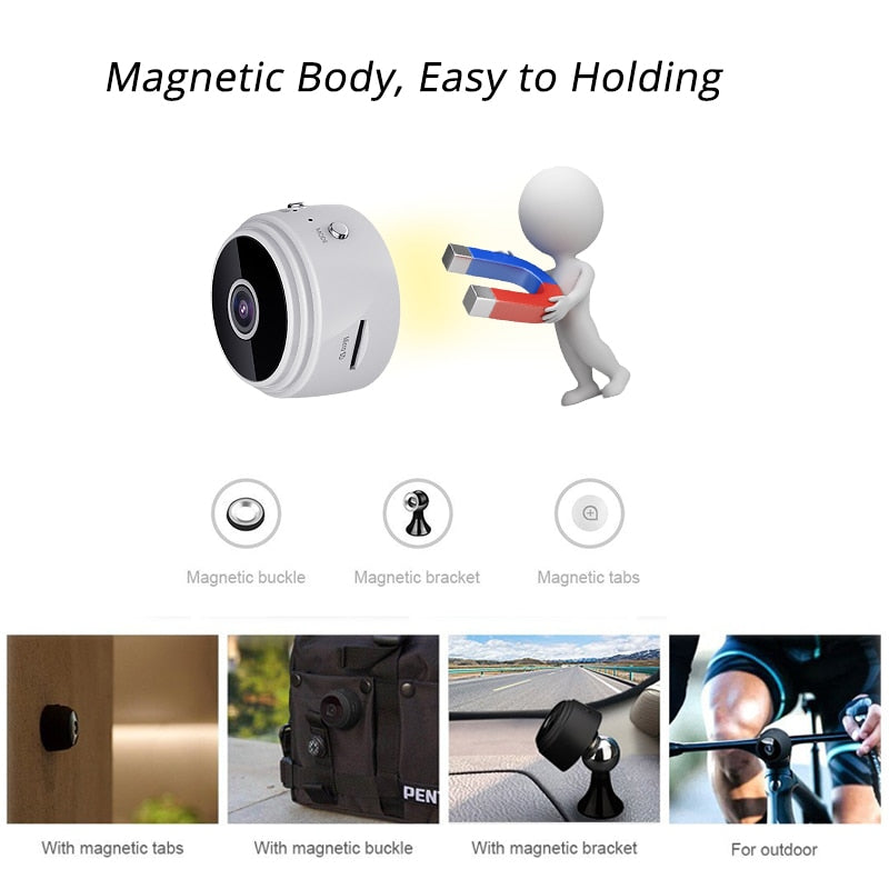 Mini Camera WiFi HD 1080P