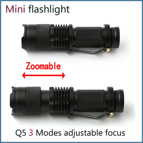 Mini 2000 Lumen Cree LED Tac Light Flashlight Zoomable  3  Mode Torch - Get  2 for Only $15.95
