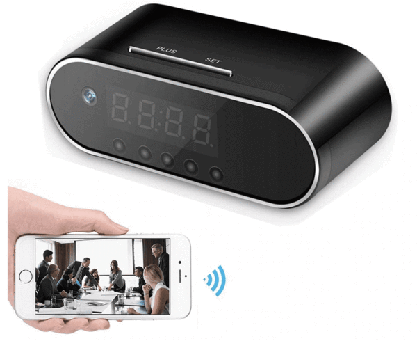 Wireless Alarm Clock Security Camera 1080P