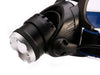 Image of Ultra-bright CREE  XML T6 3000 Lumen 3 Mode Tactical Headlight  Head Lamp - Get 2 for Only $19.95
