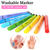 Image of Washable Watercolor Marker Pen Set- 24/36/48 Colors Non-toxic for Child Art Markers Artistic Drawing