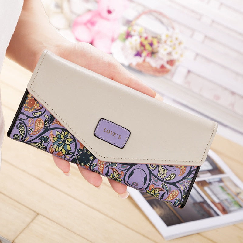 Women Leather Printed Wallet