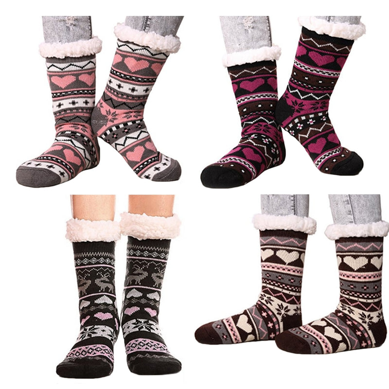 Winter Fleece Lined Slipper Socks