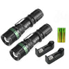 Image of Military Tough Tac 3 Mode CREE 5000 Lumens Tactical Led Waterproof Flashlight +18650 Battery + Charger - Get 2 for Only $19.95