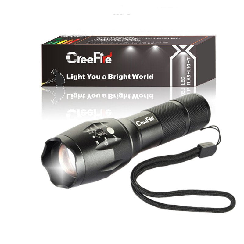 Tactical 5 Mode 1200 Lumens  Led Waterproof Flashlight