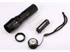 Image of LED 1200 Lumen Tactical Waterproof Zoomable Flashlight with 18650 Rechargeable Battery + Charger