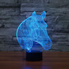 Image of Horse Head 3D LED Night Light 7 Color Changing Table Desk Touch Lamp