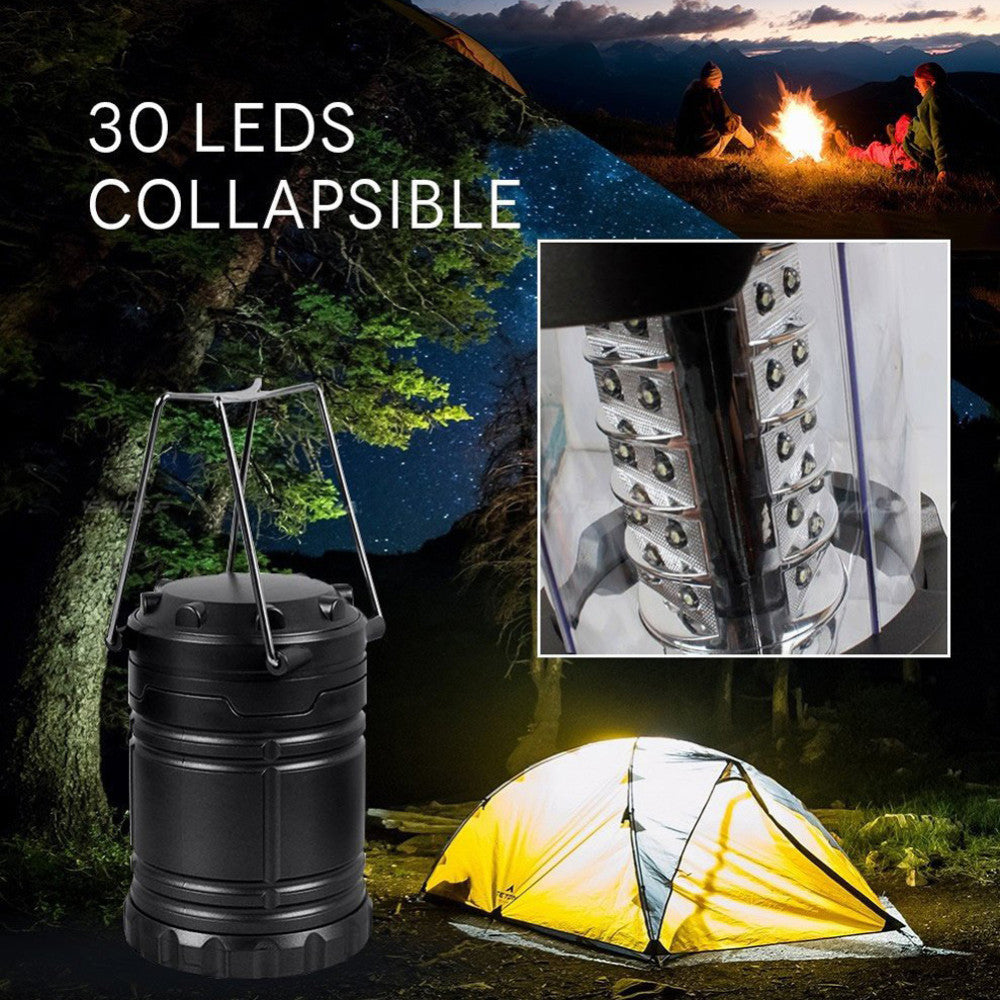 Military Tough Tac Light Collapsible LED Tactical Lantern For Hiking Camping Home Power Outages or Other Emergencies