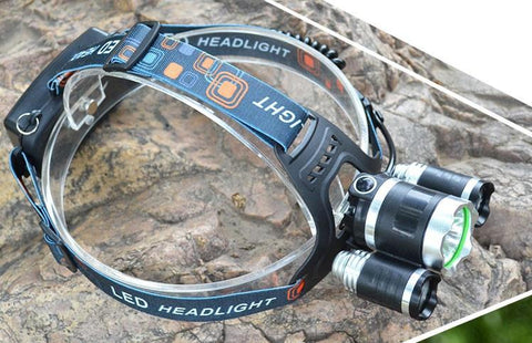 9000 Lumen CREE XML T6 LED Headlamp Waterproof Flashlight Torch 4 Mode Headlight with Rechargeable Batteries