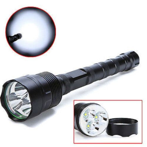 Super Bright Tactical CREE XML 3x T6 40000 Lumen LED Tac Light Flashlight Torch + 6x 18650 Battery+Charger