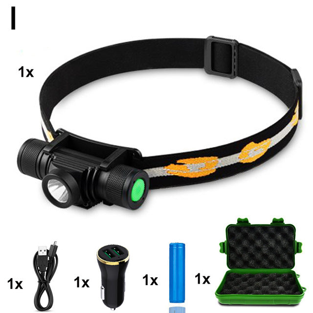10000 Lumen Rechargeable L2 LED Headlamp