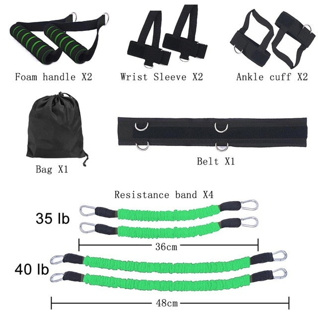 Home Gym Fitness Resistance Bands Set for Leg and Arm