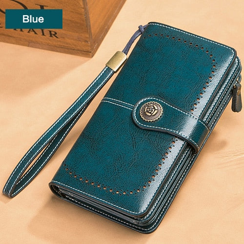 Women Leather Long Wallet