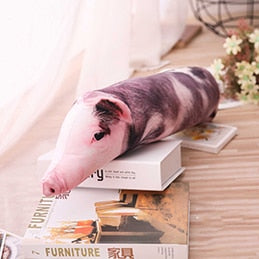 Sleeping Pig Plush Pillow