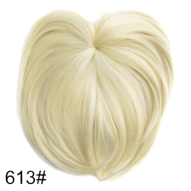 Clip On Hair Topper Wig