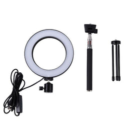 Light Lamp With Tripods Selfie Stick