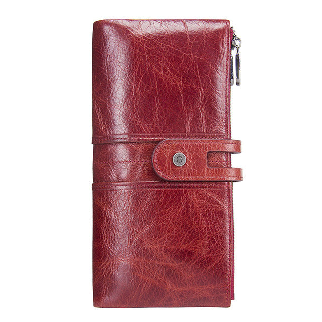 Genuine Leather Ladies Clutch