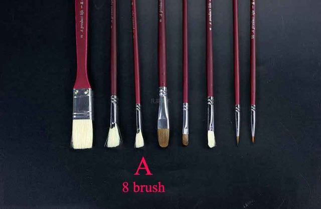 Paint Brush Set Bristle Oil Watercolor Acrylic  Art  brush Set Gouache Painting Brushes Art Supplies