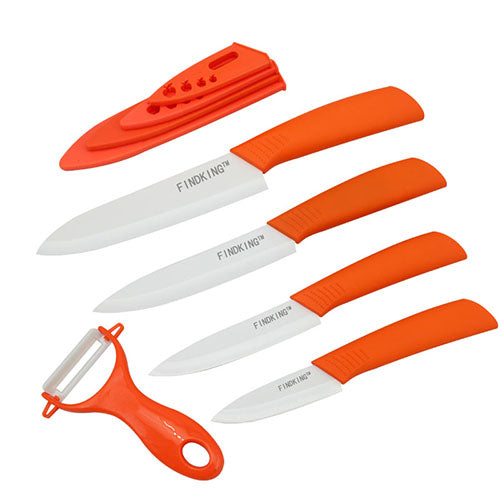 Ceramic Knives Knife  Set w Sheaths 5 Pieces 3 Inch 4 Inch 5 Inch 6 Inch Zirconia Ceramic Knife and Peeler