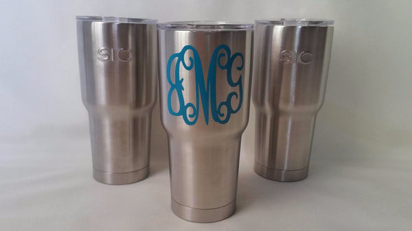 Monogram SIC Cup -- Stainless Steel SIC Cup