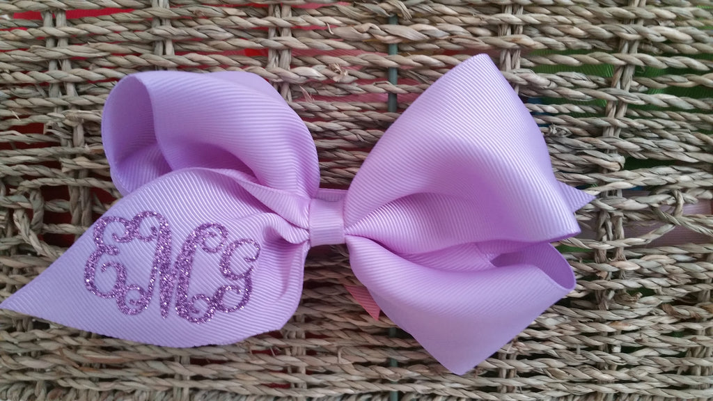 Monogram Hair Bow